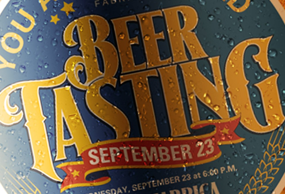 York Fabrica Beer Tasting Event