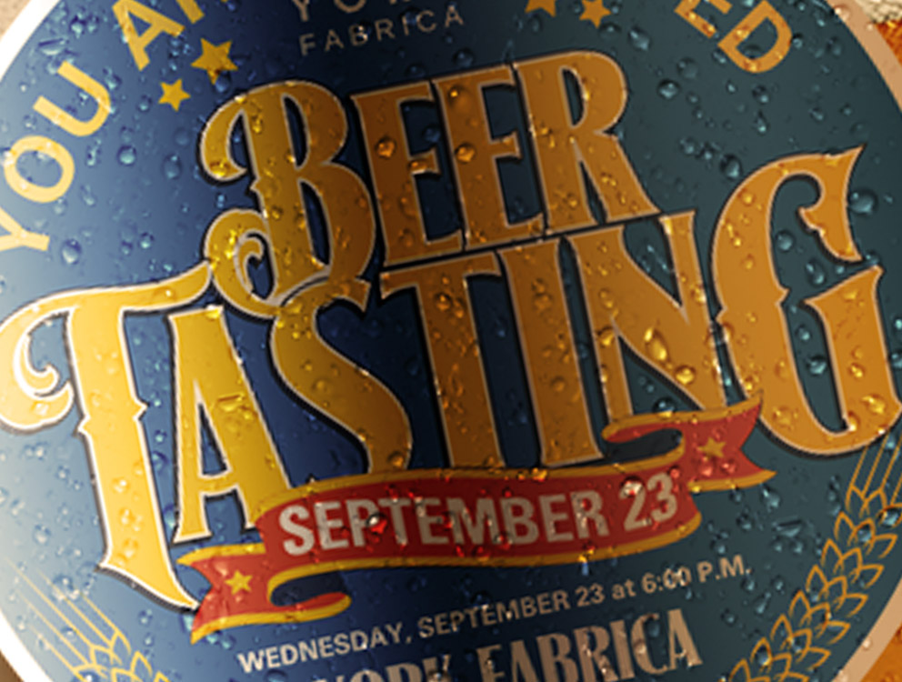 York Fabrica Beer Tasting Event